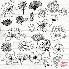 Flowers clipart hand.