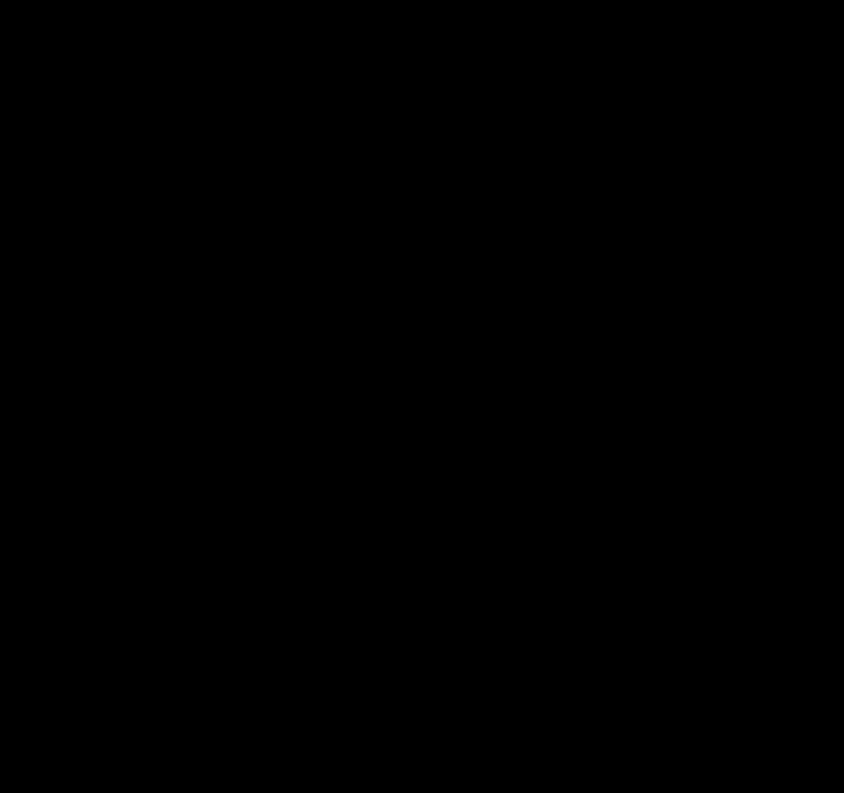 Flower clip art silhouette