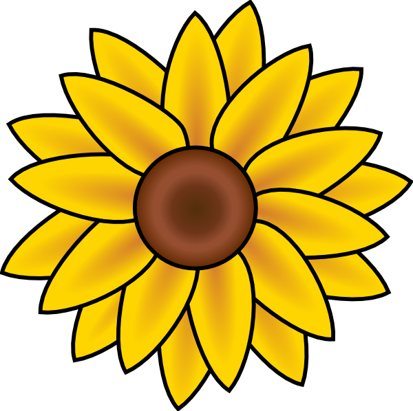 Free printable sunflower.