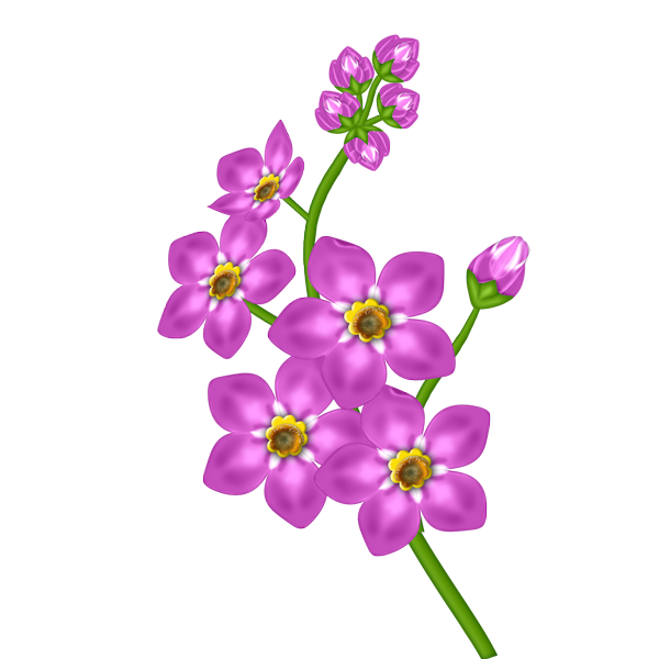 Pink Flower Transparent Clipart
