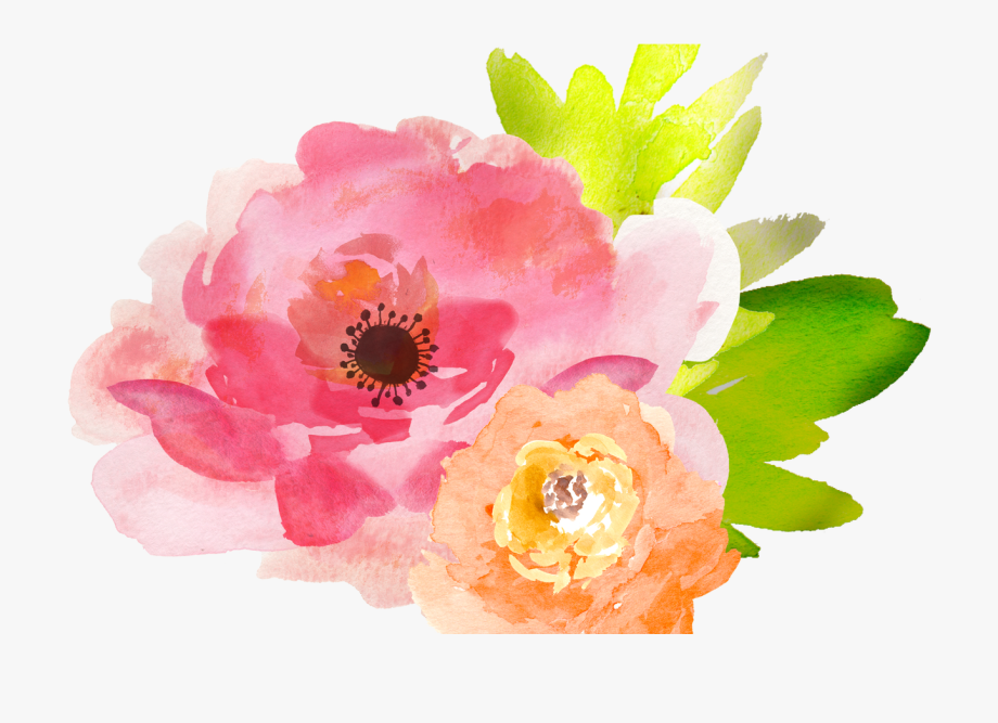 Free watercolor flower.