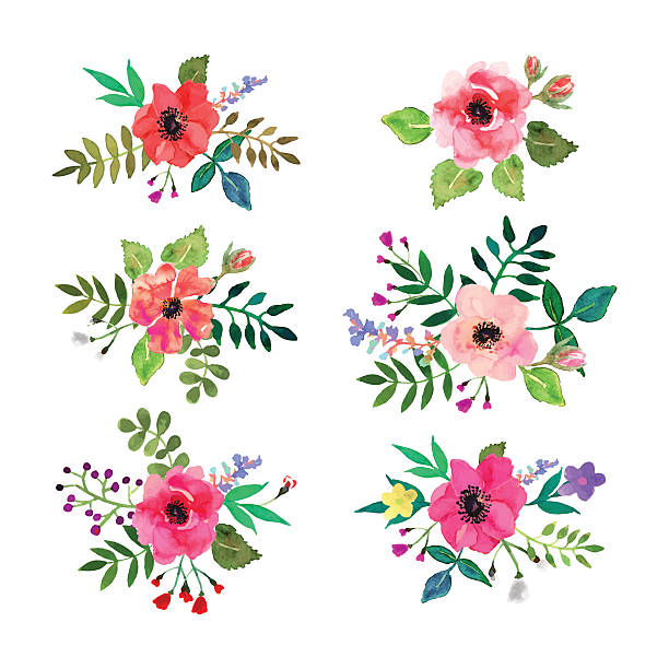 Flower clipart vector.