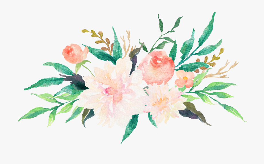 Clip Transparent Library Free Watercolor Flowers Clipart