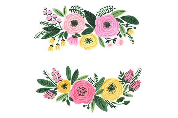 Floral clipart flower wedding graphics clip image