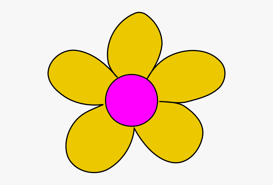 Yellow flower png.