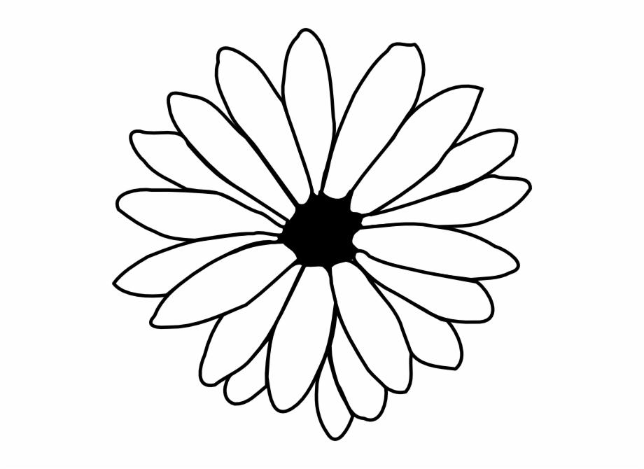 Flower outline clip.