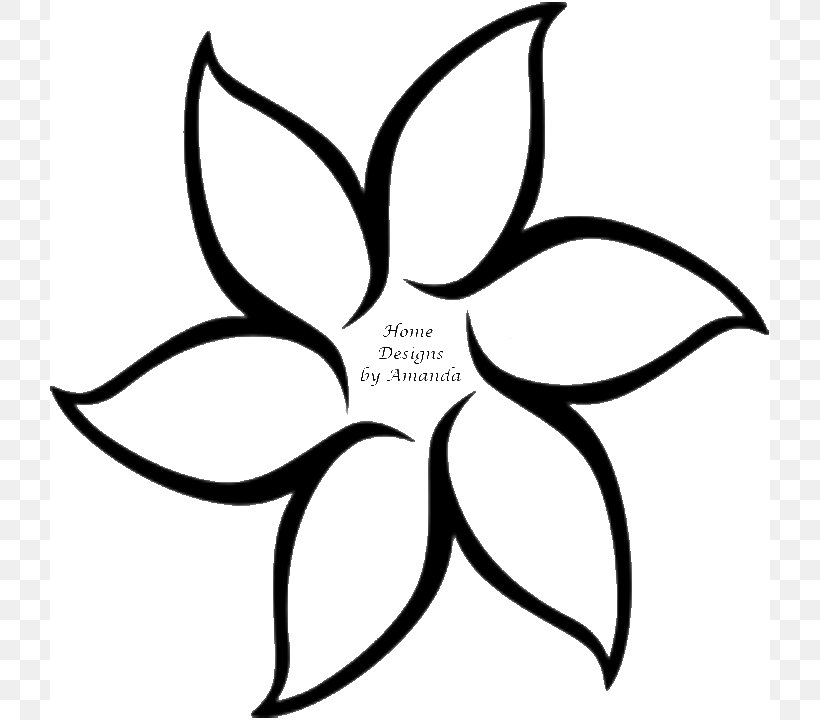 Flower outline drawing.