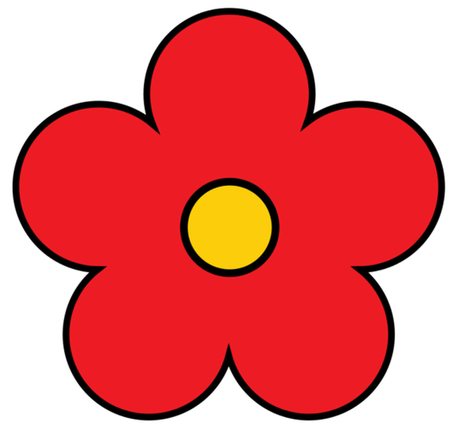 Collection flower outline.