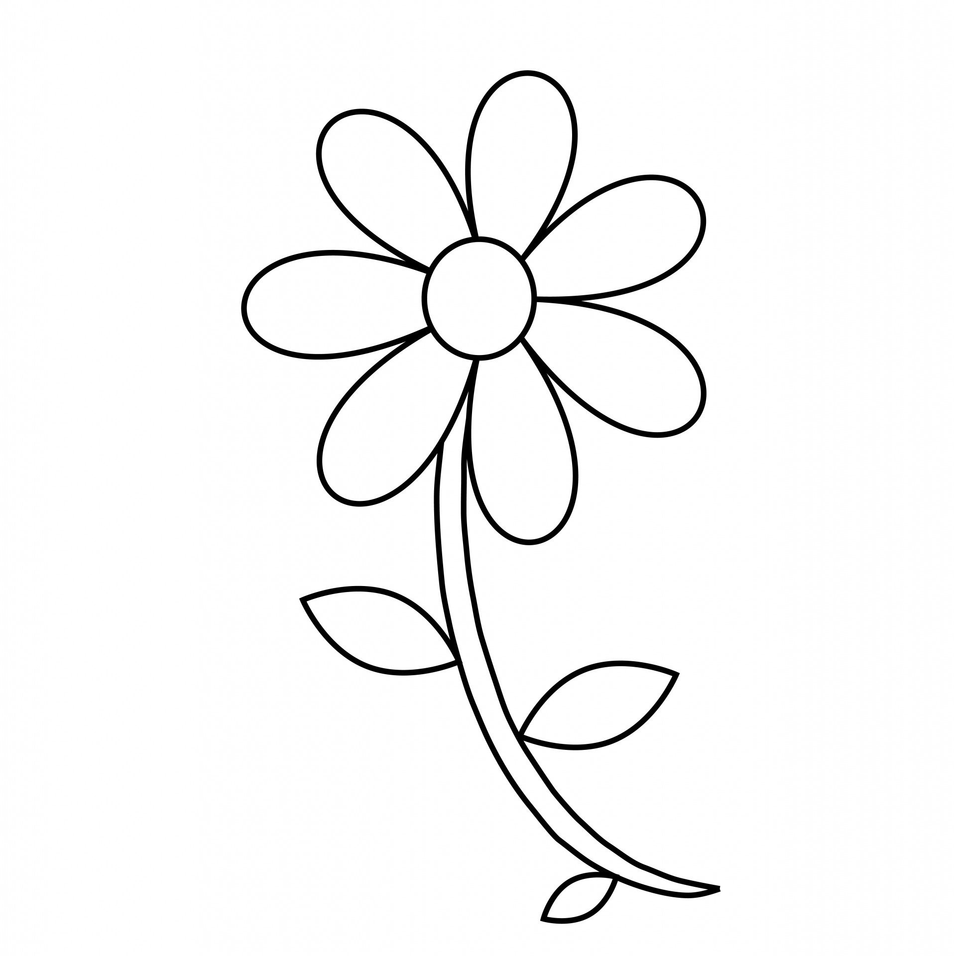 Free Simple Flower Outline, Download Free Clip Art, Free
