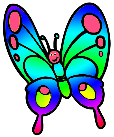 Fly clipart different color. Butterfly