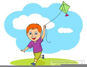 Flying kite clipart.