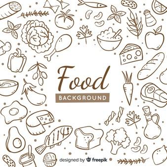 Food background vectors.