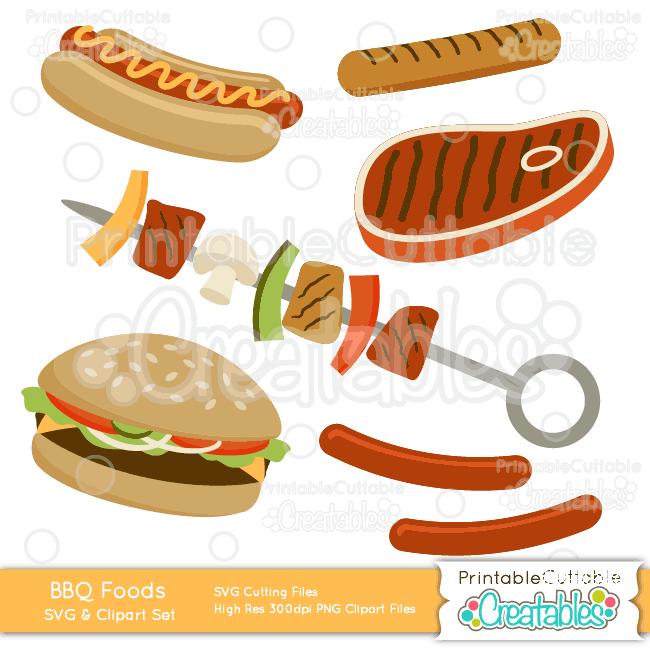Food clipart bbq. Food clipart bbq. Grilled foods svg cut