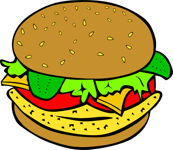 fast food clipart animated