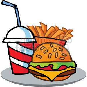 Fast food clipart drink. Hamburger and french frieson