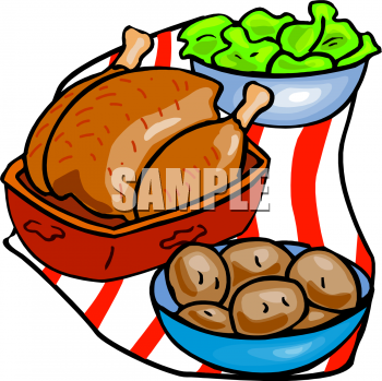 Food clipart dinner. Picture of a roast