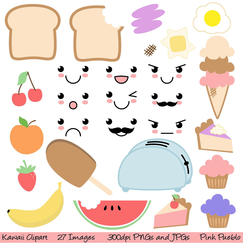 Food clipart free cute. Kawaii cliparts download clip