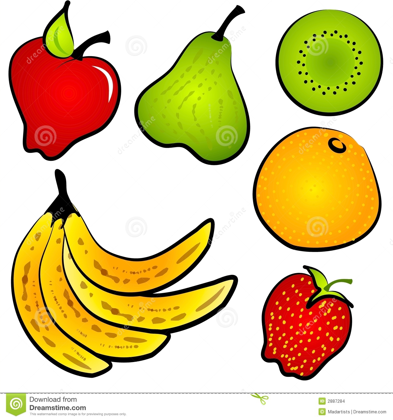Healthy food clip.