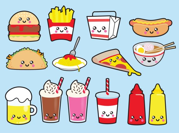 fast food clipart easy