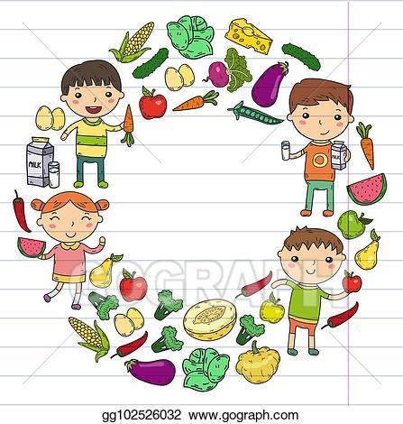 food clipart kid