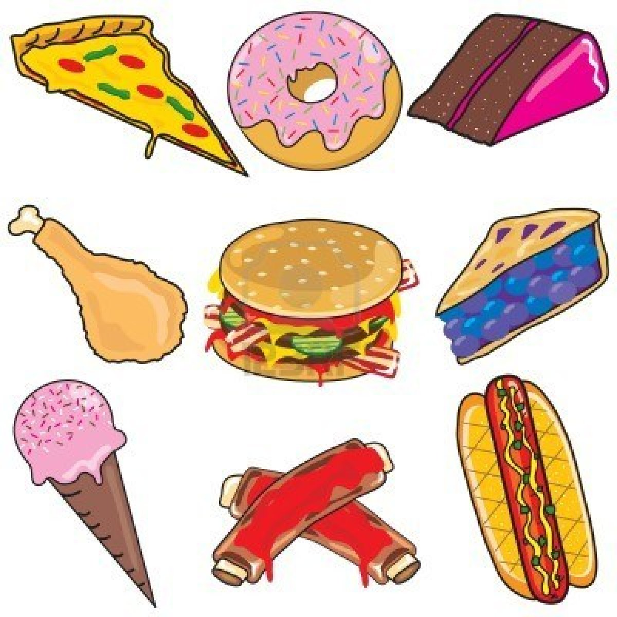 fast food clipart simple