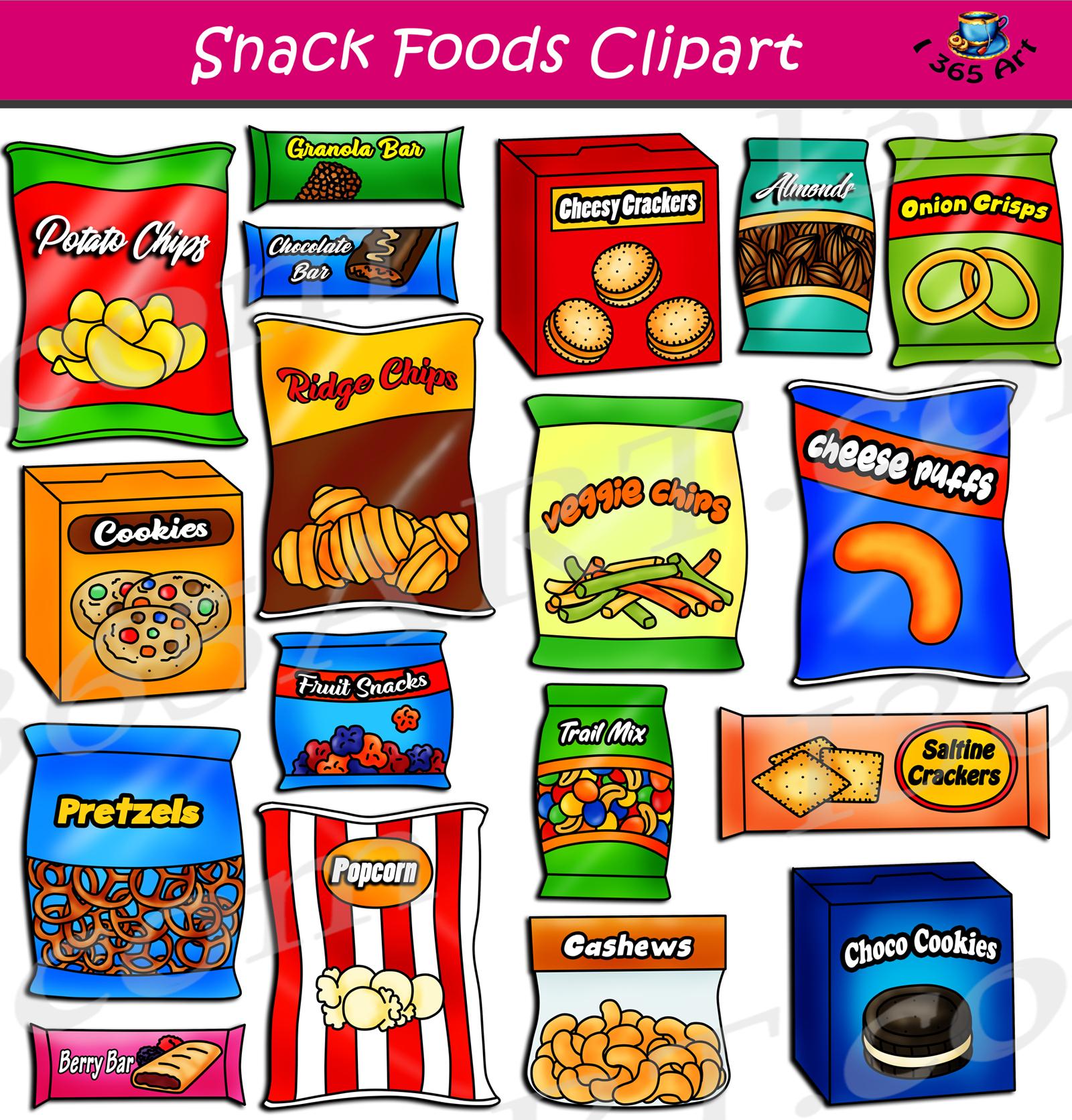 Food clipart snack. Foods set download