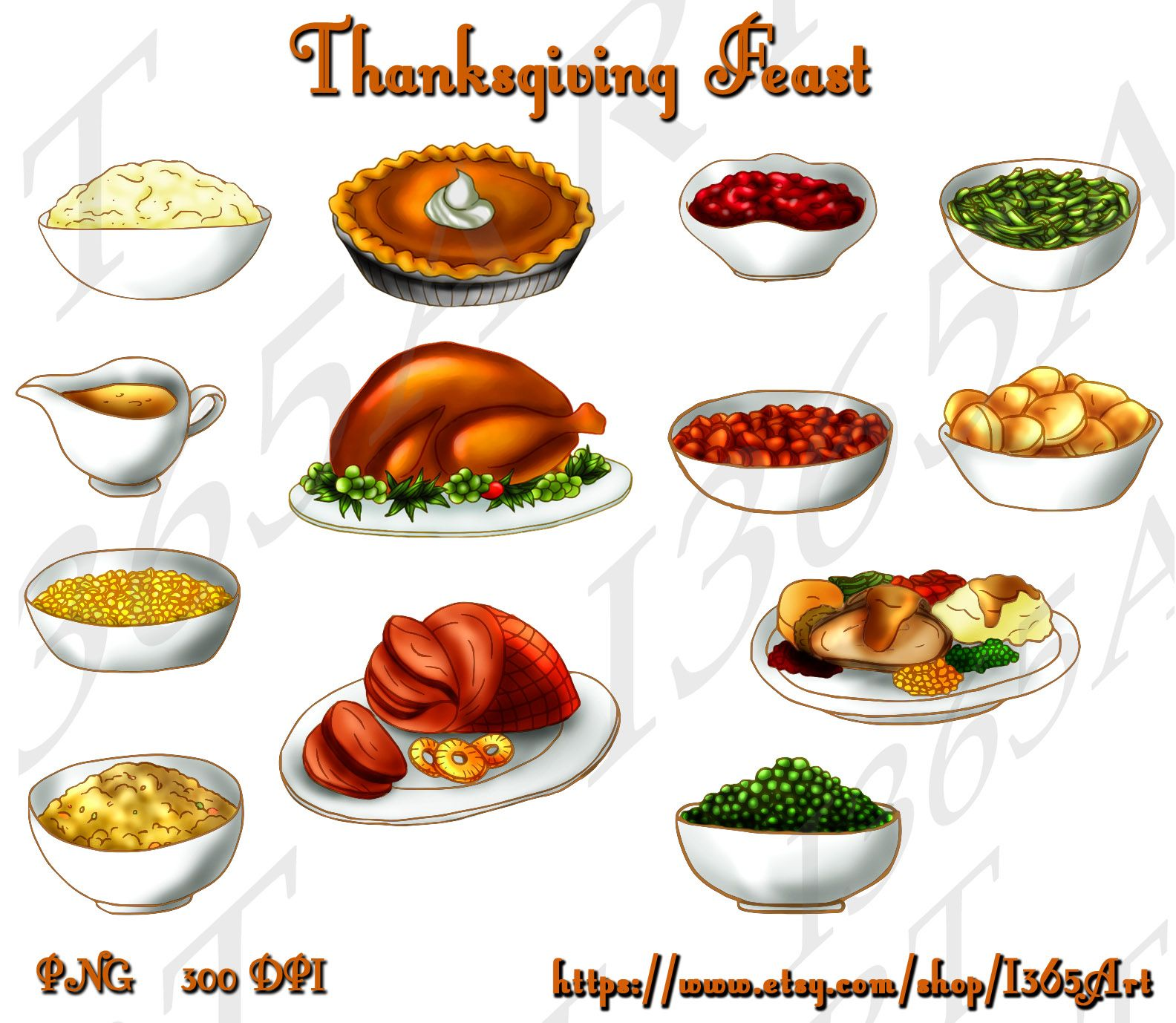 food clipart thanksgiving