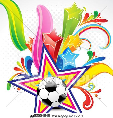 Football clipart abstract. Football clipart abstract. Drawing colorful background with