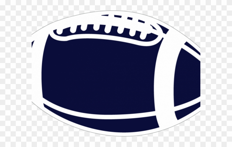 Football clipart blue.