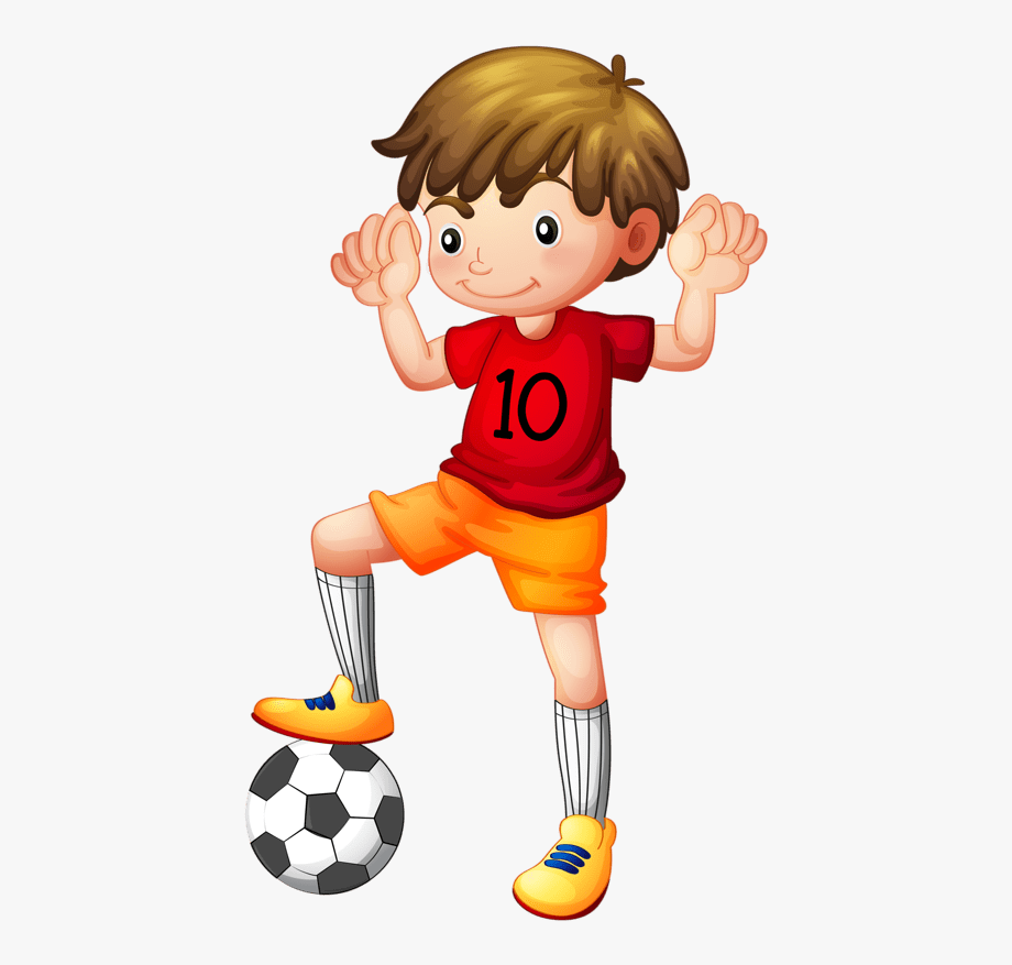 Boy playing sports.