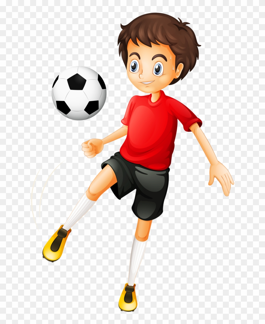 Boy playing football.