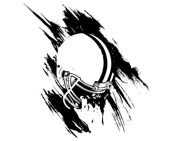 Football helmet player.