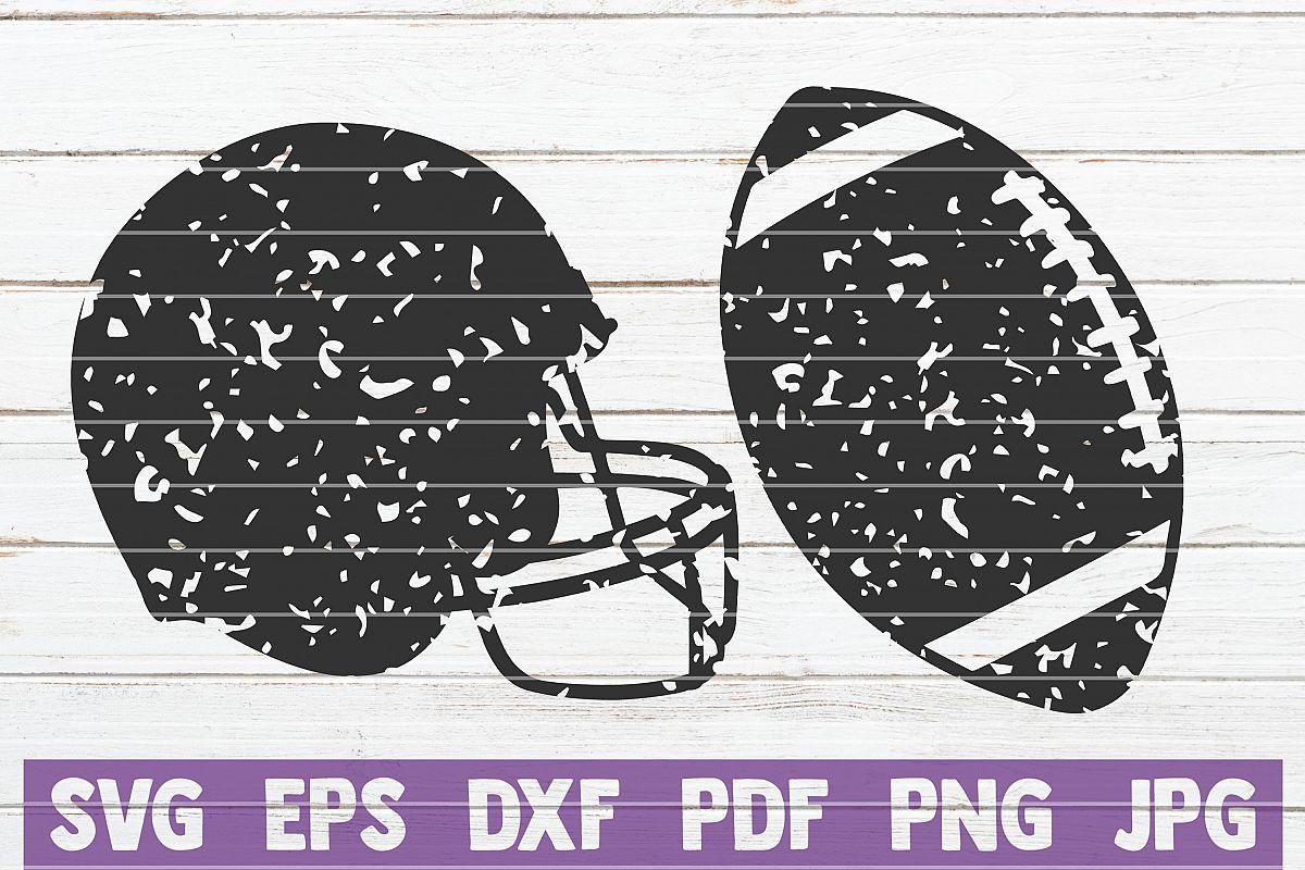 2 Distressed football SVG Cut Files