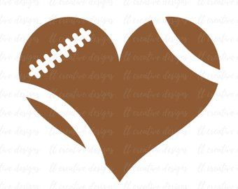 Heart football clipart