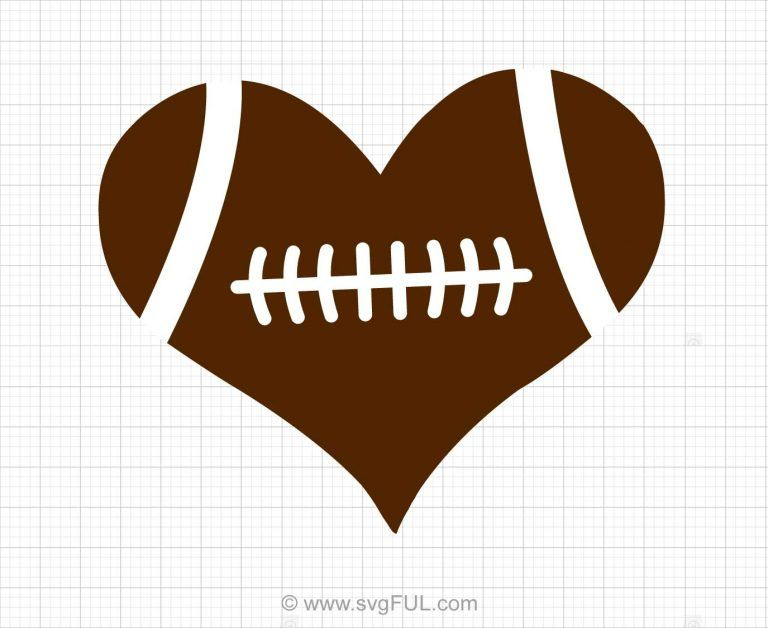 Football heart svg.