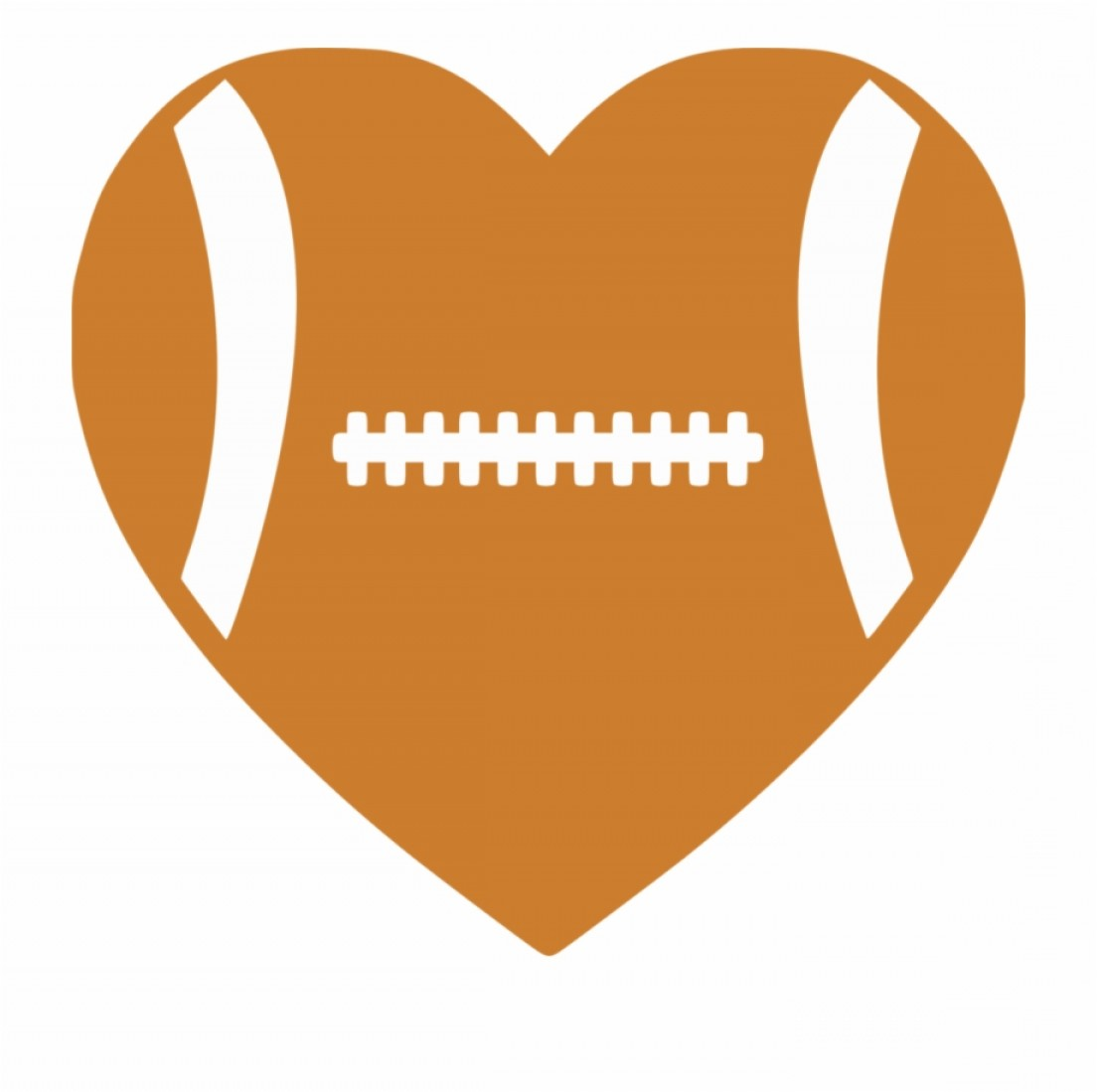Football Heart Clipart Black And White