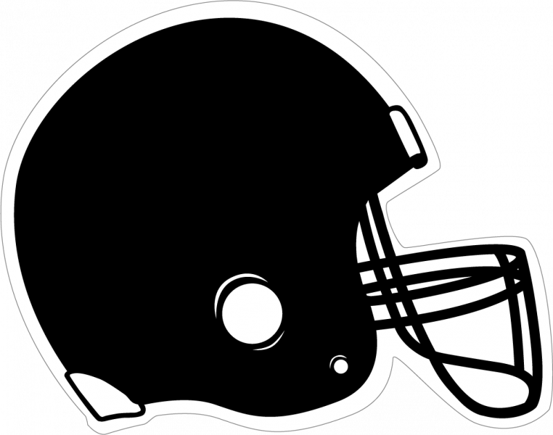 Football helmet clip art black and white football clipart