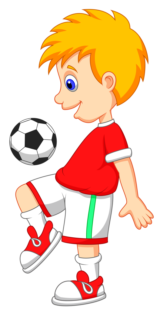 Clipart boy football.