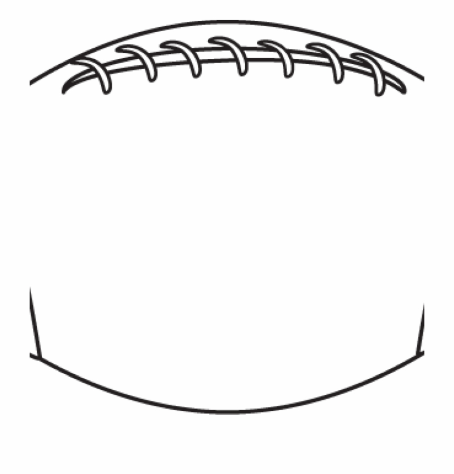 Football outline clipart.