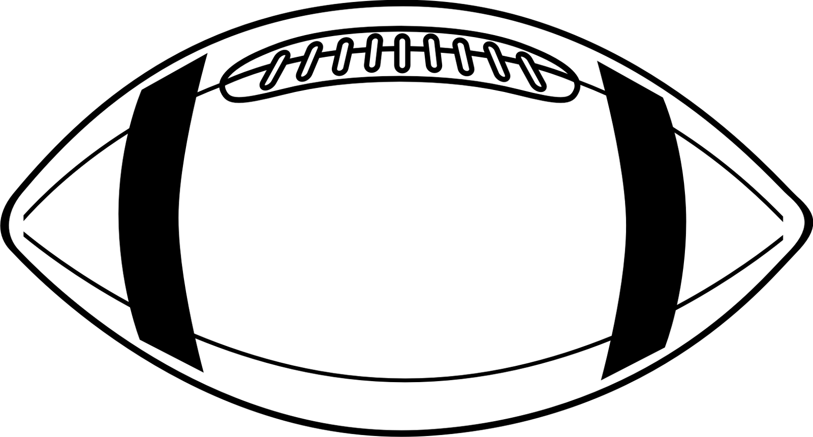 Free football outline.