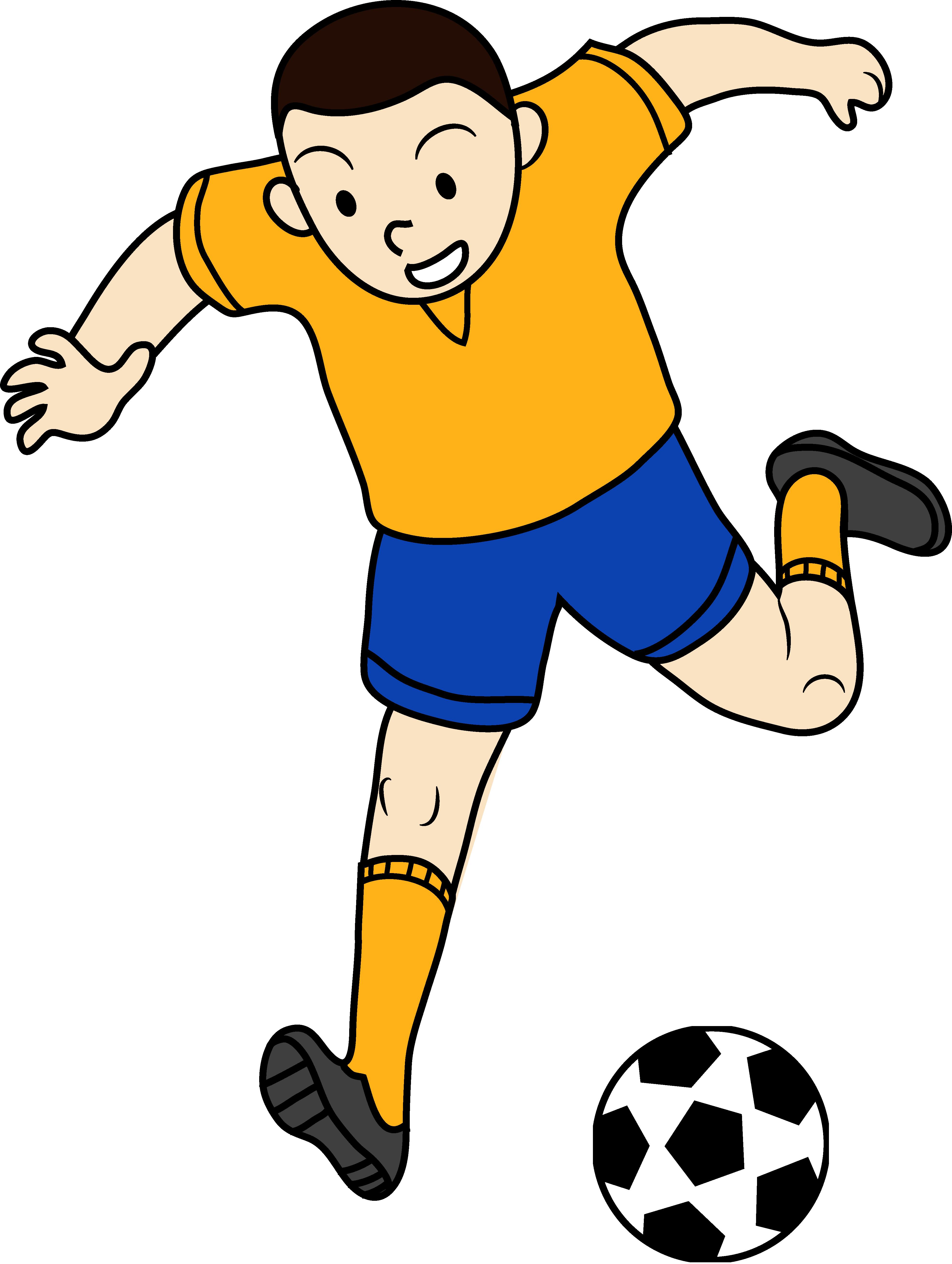 Kid football player.