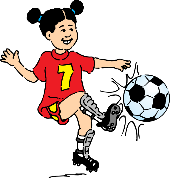 Best Playing Football Clipart