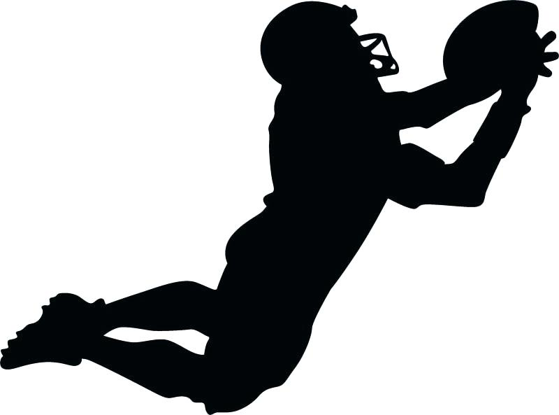 Football Clipart silhouette