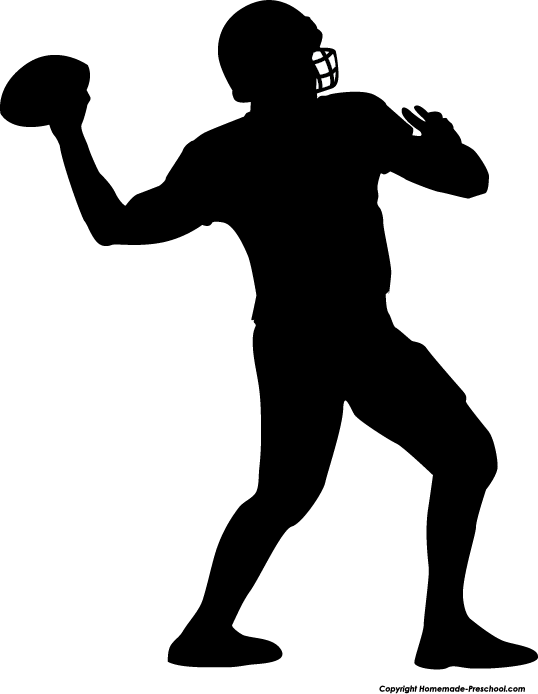 Free football silhouette.