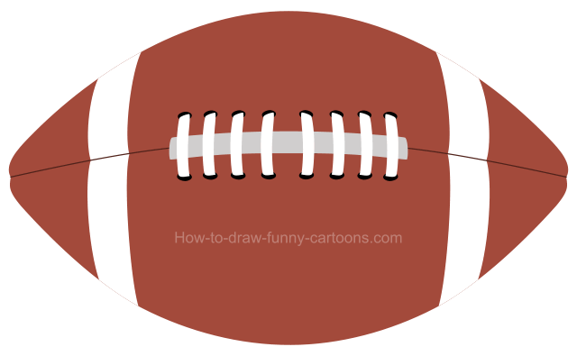 How draw football.