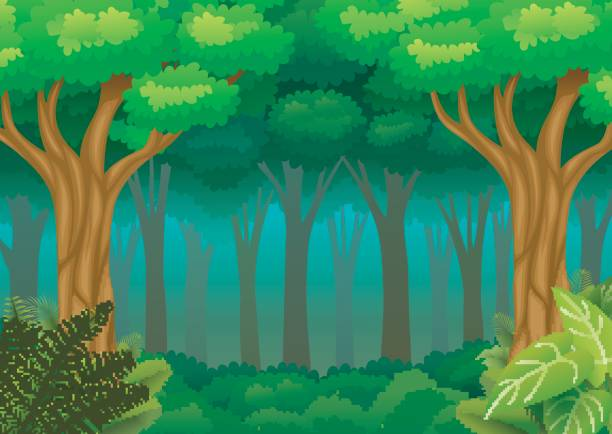 forest background clipart cute