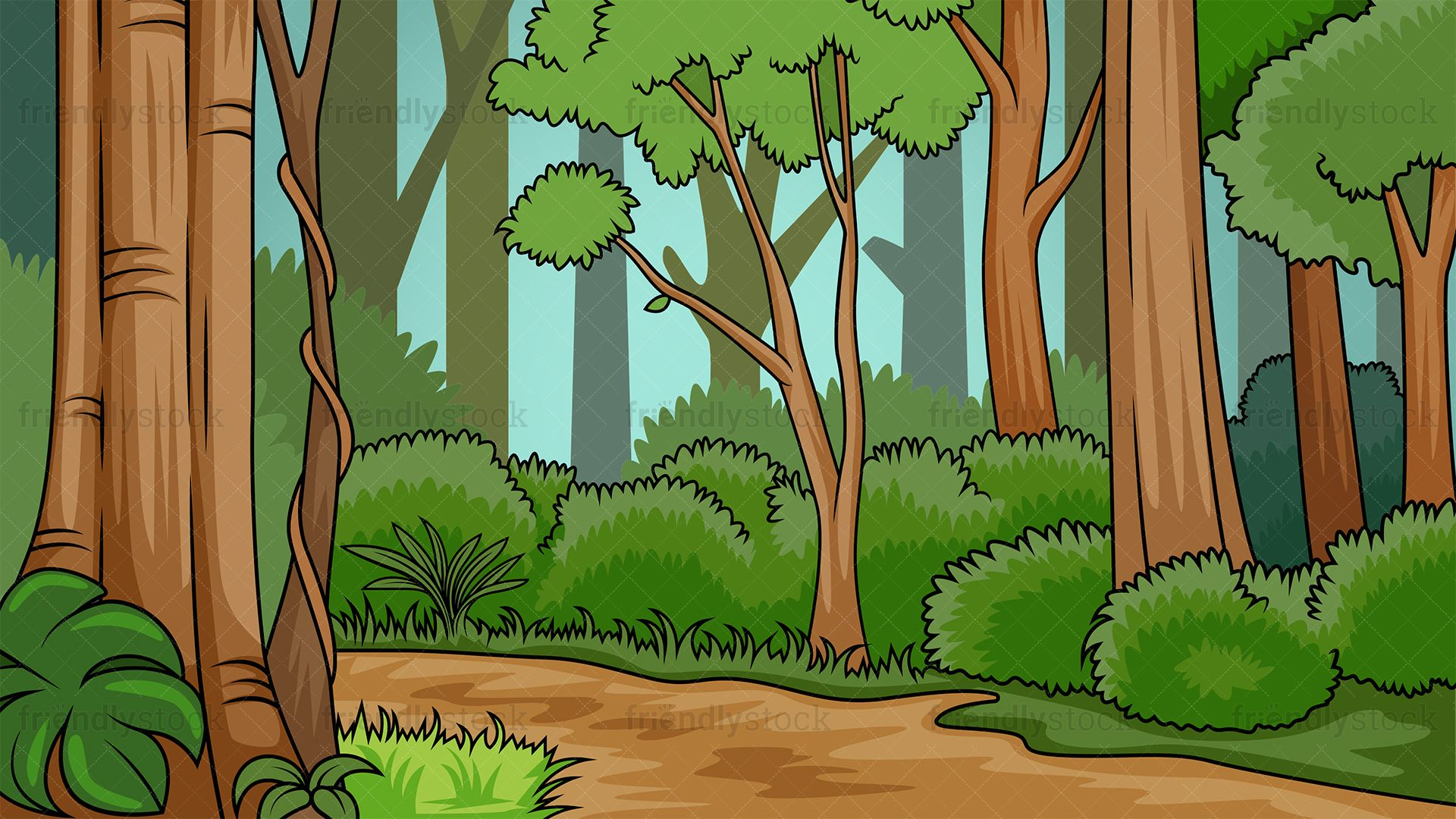 Forest background clipart drawing. Lush in free