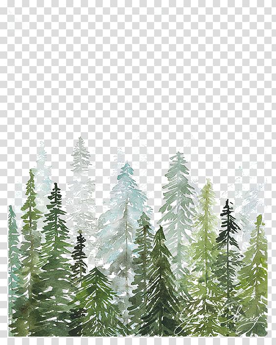 forest background clipart watercolor