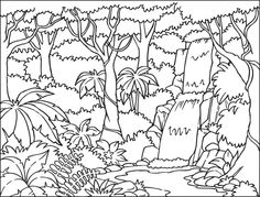 forest clipart black and white habitat