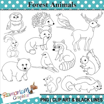 Forest clipart black and white animal. Portal